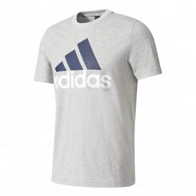 Fitnesskleding Heren - Heren Shirts en Polo's - kopen - Adidas Ess linear Tee Heren sportshirt