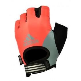 Fitnesshandschoenen - kopen - Adidas Fitnesshandschoenen – Dames – Red Sunrise_L
