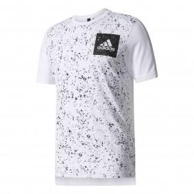 Fitnesskleding Heren - Heren Shirts en Polo's - kopen - Adidas Sid Aop Tee Heren sportshirt