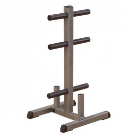 Accessoires en Gadgets - Halters - Krachtapparatuur - Opbergrekken - kopen - Body-Solid GOWT – Olympic Plate Tree & Bar Holder