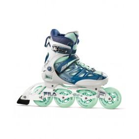 Skates - Sportschoenen en Accessoires - kopen - Fila Ghibli 90 Inliner Dames – Wit / Blauw / Mint – 4,5