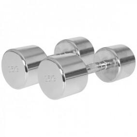 Halterbanken - Krachtapparatuur - kopen - Chroom Dumbellset 25 kg (2 x 12,5 kg)
