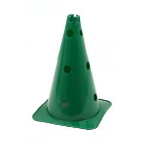 Pionnen & Markering - kopen - Grote Hoedvormige Behendigheid Kegel met gaten groen