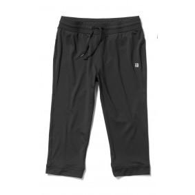 Dames Shorts en Rokjes - Fitnesskleding Dames - kopen - Rucanor Saffira Capri Broek – Zwart – L