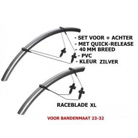 Cardioapparatuur - Fietsen - kopen - SKS Spatbord Set Raceblade XL – 25-32mm Breed – Zilver