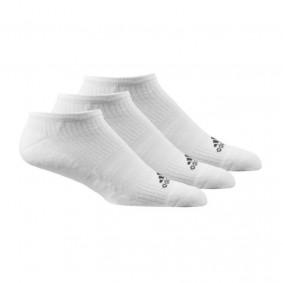Fitnesskleding Heren - kopen - adidas 3-stripes Performance No Show sokken laag 3 paar unisex wit