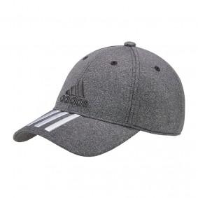 Fitnesskleding Heren - kopen - adidas 6P 3 stripes cap grijs/wit