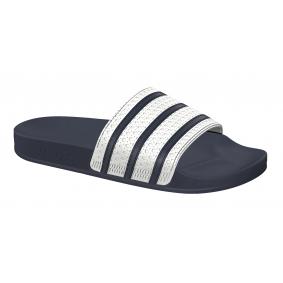 Fitness schoenen - Sportschoenen en Accessoires - kopen - Adidas Adilette slippers wit/blauw