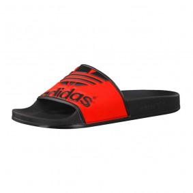 Fitness schoenen - Sportschoenen en Accessoires - kopen - Adidas Adilette Trefoil slippers zwart/rood