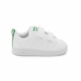 Fitness schoenen - Sportschoenen en Accessoires - kopen - adidas Advantage Clean CMF fitnessschoenen kids wit/groen