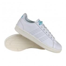 Fitness schoenen - Sportschoenen en Accessoires - kopen - Adidas Cloudfoam Advantage Clean schoenen dames wit/blauw