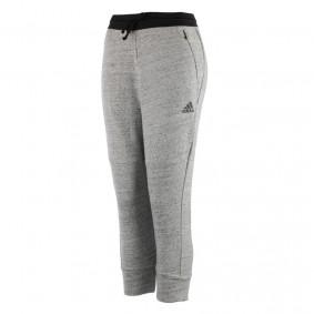 Fitnesskleding Dames - kopen - adidas Cotton Fleece capri dames grijs/zwart