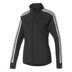 Fitnesskleding Dames - kopen - adidas D2M trainingsjack dames zwart/wit