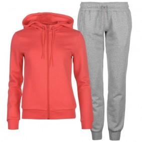 Fitnesskleding Dames - kopen - Adidas Ess Linear trainingspak dames roze/grijs