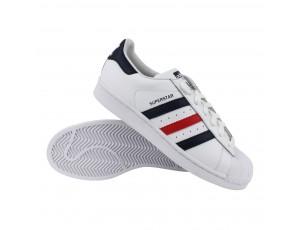 Fitness schoenen - Sportschoenen en Accessoires - kopen - adidas Superstar Foundation heren wit/marine/rood