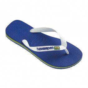 Fitness schoenen - Sportschoenen en Accessoires - kopen - Havaianas Brasil Logo teenslippers heren blauw/wit