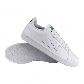 Fitness schoenen - Sportschoenen en Accessoires - kopen - adidas Cloudfoam Advantage Clean fitnessschoenen heren wit/groen