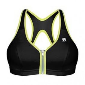 Dames Sport BH's - Fitnesskleding Dames - kopen - Shock Absorber Active Zipped Plunge sportbh dames zwart