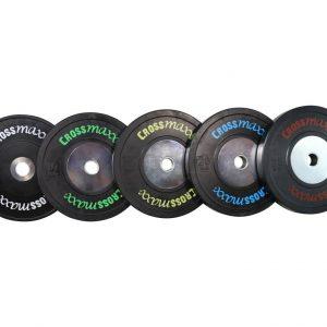 Crossmaxx Competition bumper plate - 50 mm/25 kg zwart kopen