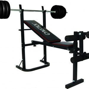 Gymstick Halterbank met 40 kg Gewichten kopen