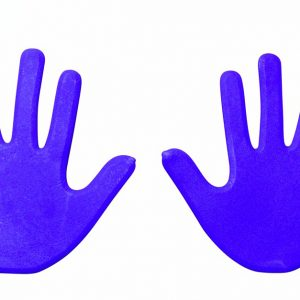 Hand Vloermarkering blauw kopen